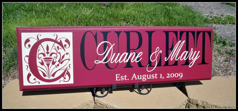 Monogram Wedding Sign ~ Design C - Simply Said Signs
