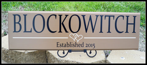 Last Name Sign ~ Established Sign ~ Family Name Sign ~ Custom Name Sign ~ Blockowitch Design - Simply Said Signs