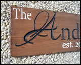 Last Name Sign ~ Family Name Sign ~ Engraved Wood Sign ~ Anderson Design - Simply Said Signs