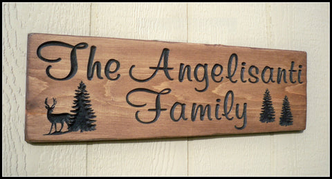 Family Name Sign ~ Carved Family Name Sign ~ Camp Sign ~ Angelisanti Design - Simply Said Signs