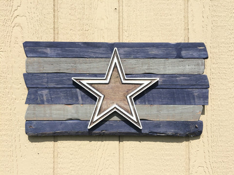 Dallas Cowboys Wood Plank Sign - Simply Said Signs