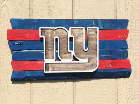 NY Giants Wood Plank Sign - Simply Said Signs