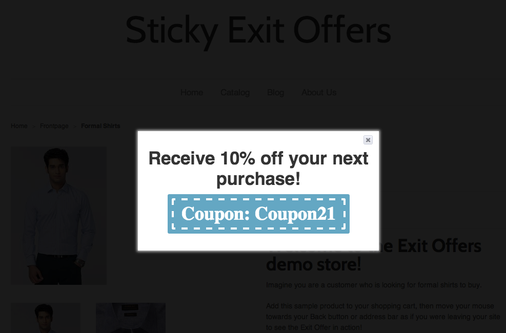 exit offers shopify app