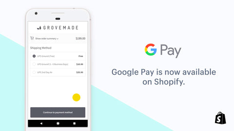Shopify now using Google Pay