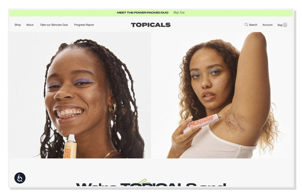 Topicals being inclusive with their photography.