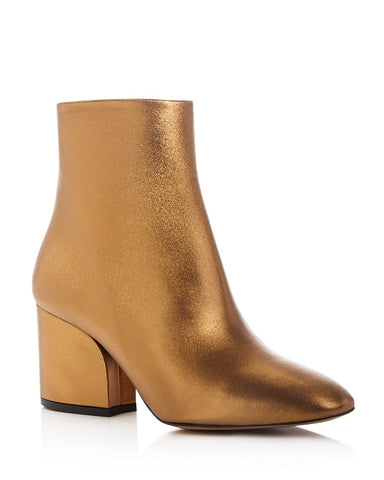 Gold Salvatore Feragamo Booties