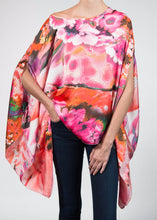 pink floral poncho top