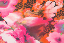 pink floral poncho fabric
