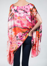 pink floral poncho