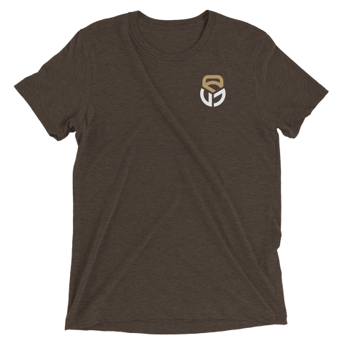 Image of Tri-Blend Short sleeve t-shirt Pocket logo