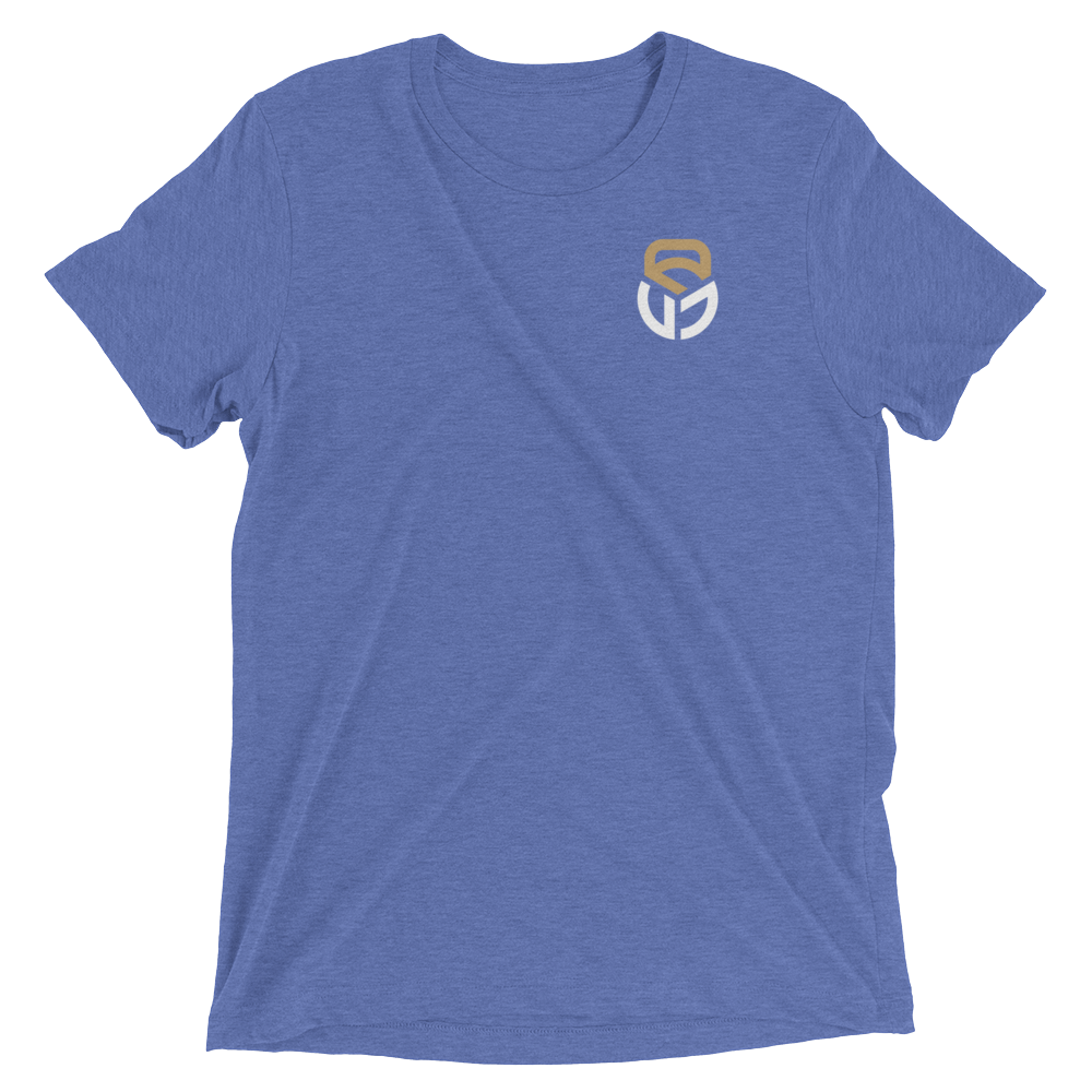 Tri-Blend Short sleeve t-shirt Pocket logo