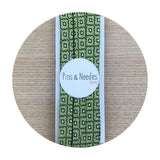 Moroccan Green Print 100% Cotton Bias Tape Trim Pins and Needles Fabrics