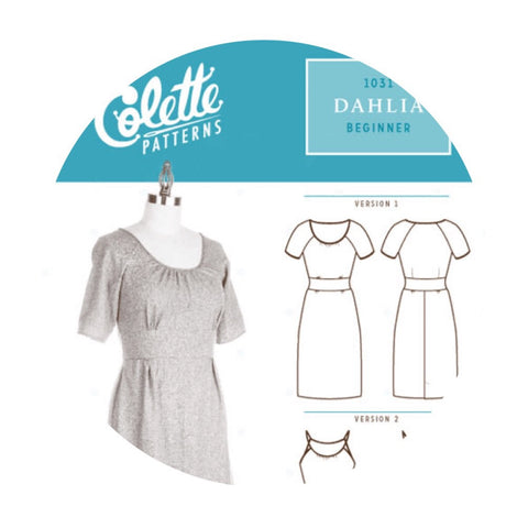 Colette Patterns - Modern Sewing Patterns - Online Sewing Supplies Canada - Sewing for Beginners - Dahlia Dress