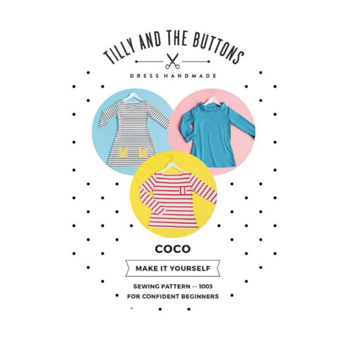 Modern Sewing Patterns - Online Sewing Supplies Canada - Tilly and the Buttons - Sewing for Beginners - Coco Top Dress