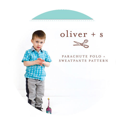 Parachute Polo & Sweatpants Sewing Pattern for Boys & Girls (Sizes 6m-4 years) - Oliver + S Patterns