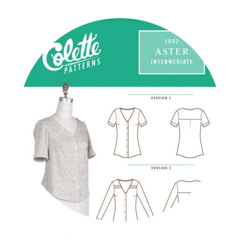 Colette Patterns - Modern Sewing Patterns - Online Sewing Supplies Canada - Sewing for Beginners - Aster Top