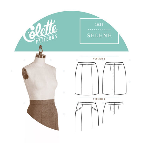 Colette Patterns - Modern Sewing Patterns - Online Sewing Supplies Canada - Sewing for Beginners - Selene Skirt