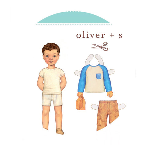Field Trip Cargo Pants & Raglan T-Shirt Sewing Pattern for Boys & Girls (Sizes 6m-4 years) - Oliver + S Patterns