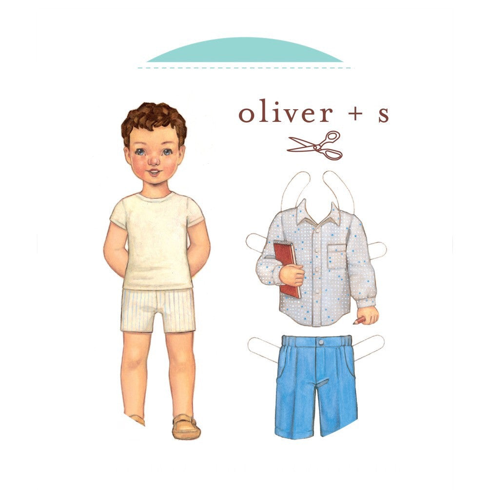 Sketchbook Shirt & Shorts Sewing Pattern for Boys & Girls (Sizes 5 ...