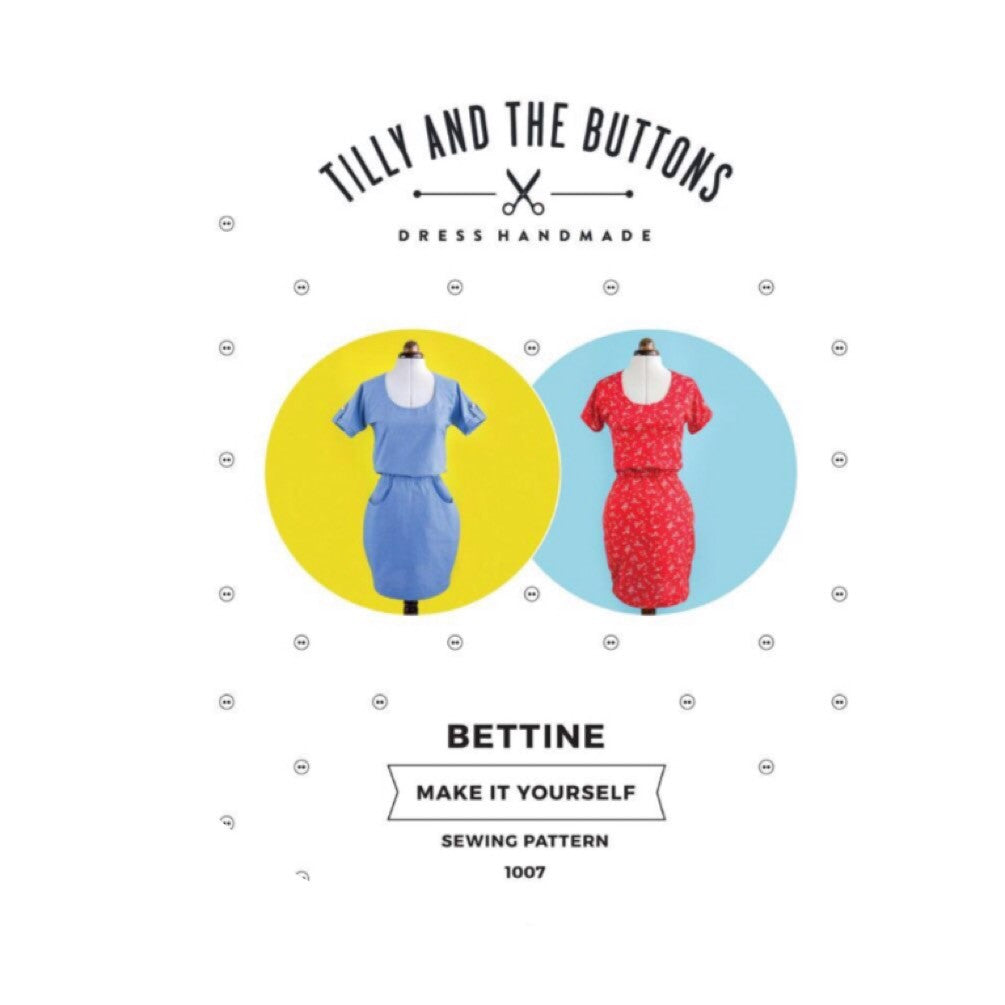 Modern Sewing Patterns - Online Sewing Supplies Canada - Tilly and the Buttons - Sewing for Beginners - Bettine Dress