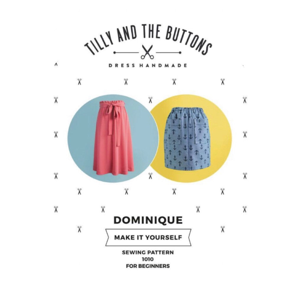 Modern Sewing Patterns - Online Sewing Supplies Canada - Tilly and the Buttons - Sewing for Beginners - Dominique Skirt