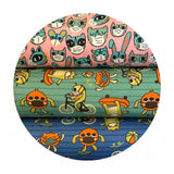 Monsters in Light Green - Have Fun, Stay Safe! Collection - Paintbrush Studio Fabrics