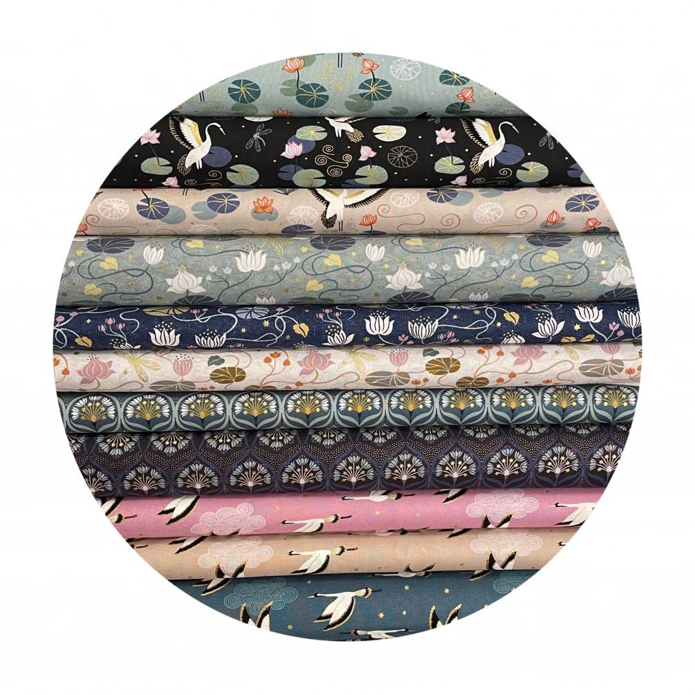 11 Piece 1/2 Meter Bundle - Jardin de Lis Collection - Lewis & Irene Fabrics