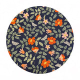 Primrose in Navy Cotton - Strawberry Fields by Rifle Paper Co. - Cotton + Steel Fabrics