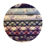 Purple Iona Check with Copper Metallic - Iona Collection - Lewis & Irene Fabrics