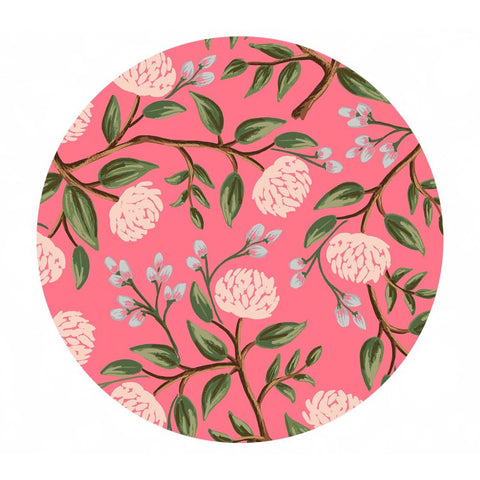 Peonies in Pink Cotton - Wildwood by Rifle Paper Co. - Cotton + Steel Fabrics