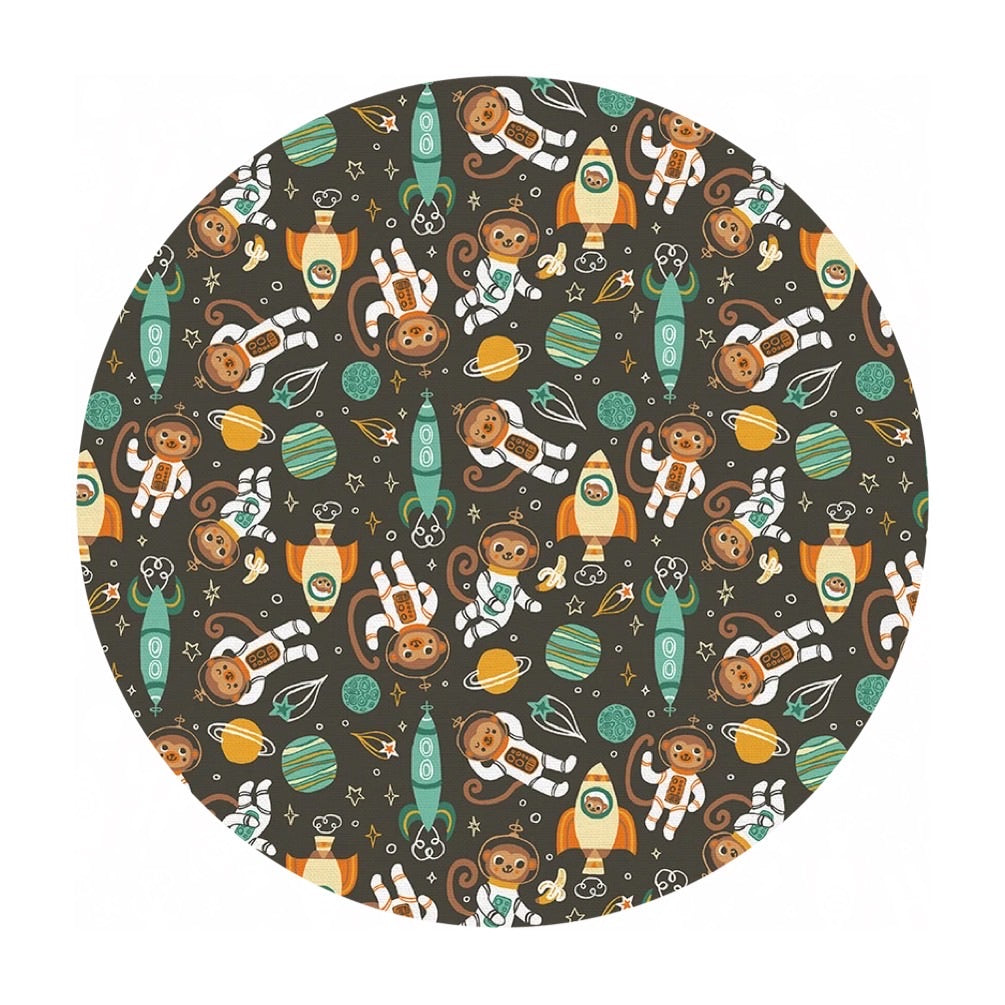 Space Monkey in Green - Space Monkey Collection - Paintbrush Studio Fabrics