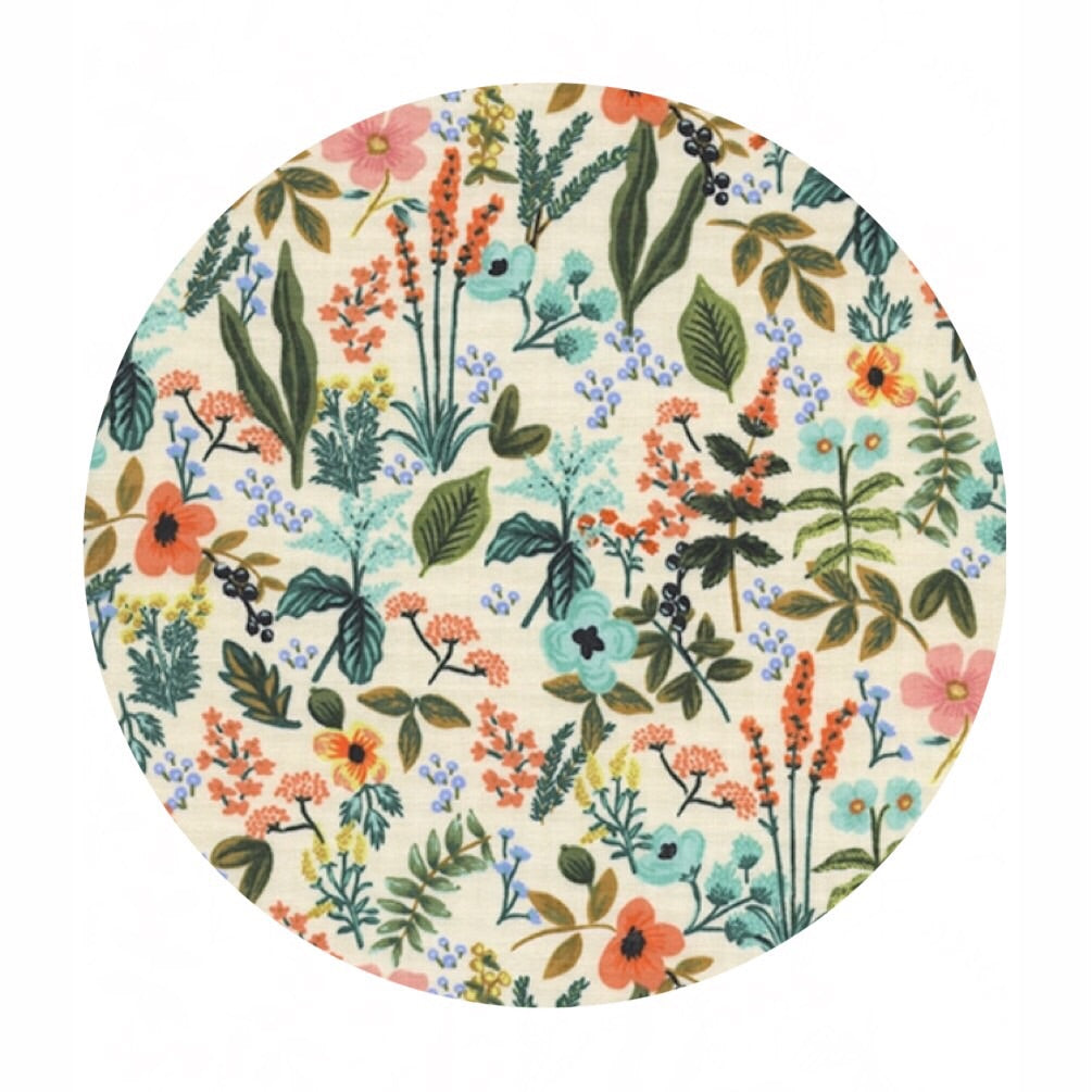 Herb Garden Natural in Unbleached Cotton - Amalfi by Rifle Paper Co. - Cotton + Steel Fabrics