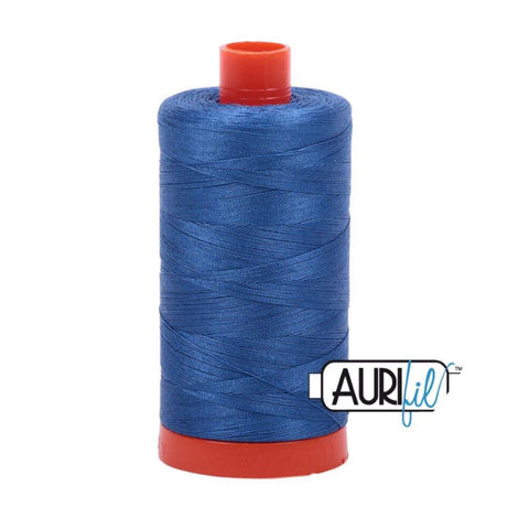 Aurifil Thread - 50wt Large Spool - Delft Blue 2730