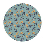 .5 meters left! - Blueberries in Teal- Berry Blossoms Collection - Camelot Fabrics