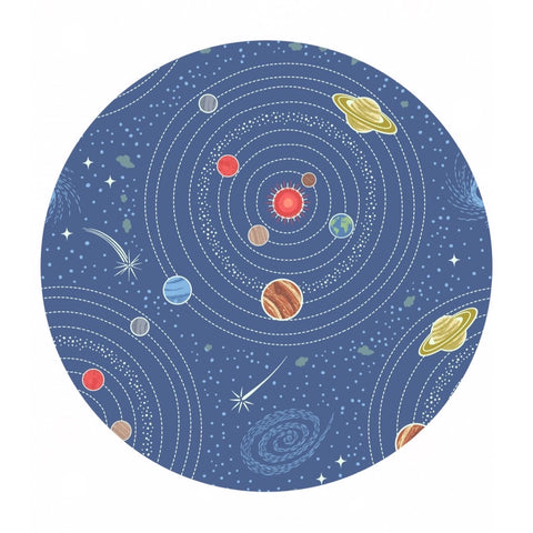 Blue Planets - Light Years Collection - Lewis & Irene Fabrics