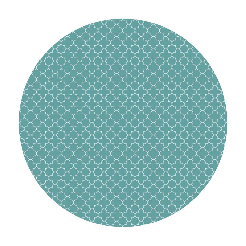 1 meter left! - Mini Quatrefoil Teal - Riley Blake Designs