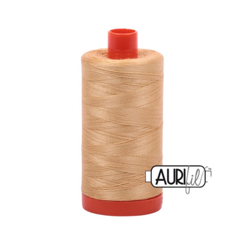 Aurifil Thread - 50wt Large Spool - 5001 Ocher Yellow