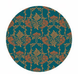 Nouveau Mayflower in Dark Green - The Hesketh House Collection - Liberty Fabrics