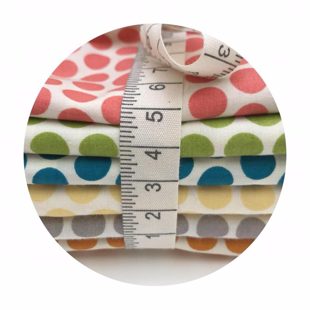 Organic 6 Piece Half Meter Bundle - Dottie Organic Poplin - Mod Basics Collection - Birch Organic Fabrics
