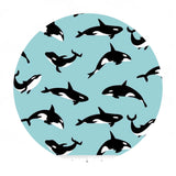 Orcas in Aqua - Northwest Collection - Riley Blake Designs