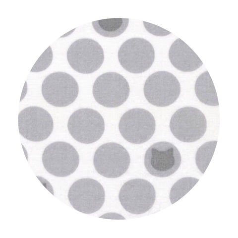Little Cat Dot Double Gauze in Gray - Little Prints Double Gauze - Robert Kaufman Fabrics