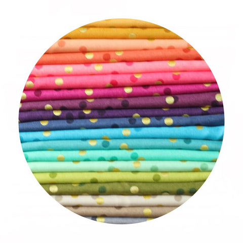 1 bundle left! - 20 Piece Half Meter Bundle - Ombre Confetti Metallic Collection - Moda Fabrics