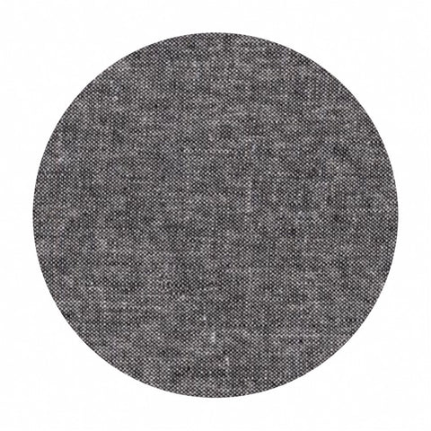 Re-stock! - Essex Yarn Dyed Linen Canvas in Black - Robert Kaufman Fabrics