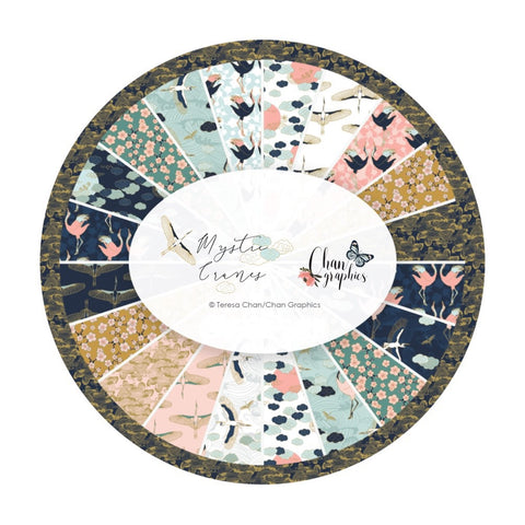 3 bundles left! - 15 Piece Half Meter Bundle - Mystic Cranes Collection - Camelot Fabrics
