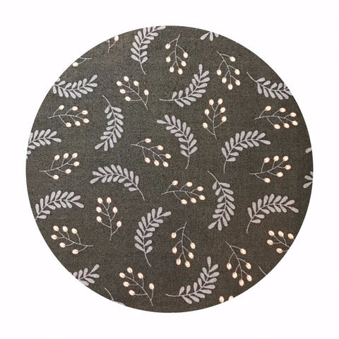 Leaves in Dark Gray - Make a Wish Collection - Camelot Fabrics