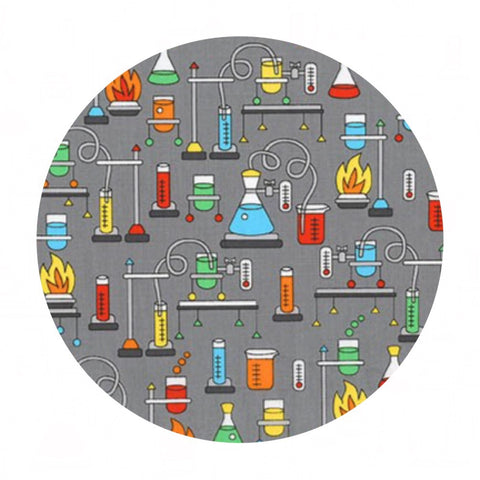 Lab in Multi - Science Fair Collection- Robert Kaufman Fabrics