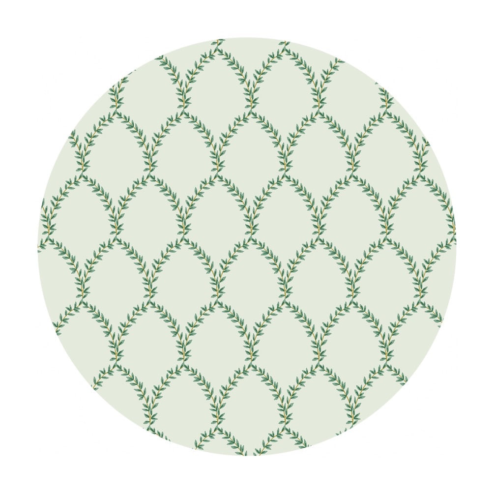Laurel Cotton in Mint - Strawberry Fields by Rifle Paper Co. - Cotton + Steel Fabrics