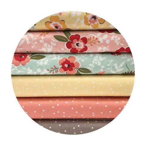 Only 1 bundle left! - 6 Piece Half Meter Bundle  - Sweet Prairie Collection - Riley Blake Designs