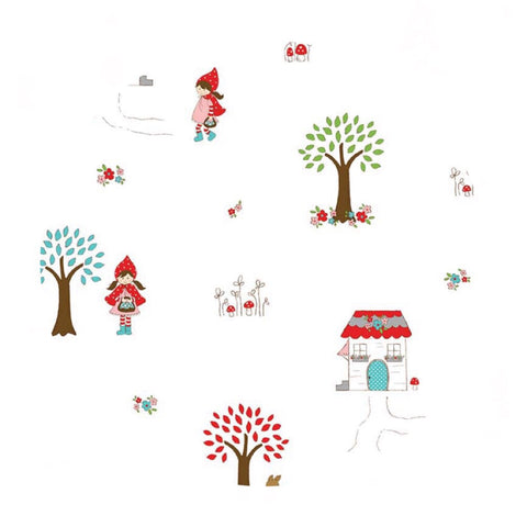1 meter left! - Little Main White in Flannel - Little Red Riding Hood Collection - Riley Blake Designs