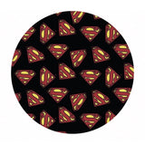 Superman Logo in Black - DC Comics Collection - Camelot Fabrics